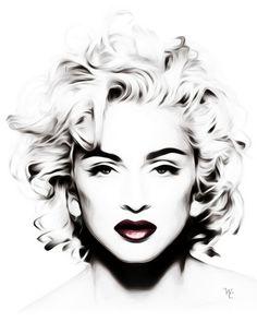 Madonna--Black-and-White--Head-shot--Pop-Art_art.jpg 520×650 pixels