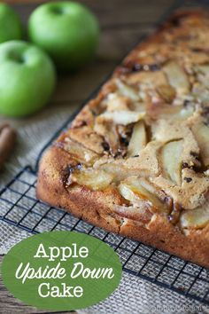 Apple Upside Down Cake - Moist, sweet and fibre-packed, it doesn't get any better than this mouthwatering fall dessert recipe. Who said dessert couldn't be healthy?!