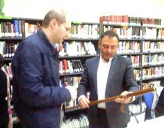 Encuentro con Jesús Sánchez Adalid en la Biblioteca Pública de Valdelacalzada (Badajoz) | Un libro es un amigo