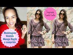 Molde vestido com manga raglã inspirado na Camila Coelho por Alana Santos Blogger - YouTube