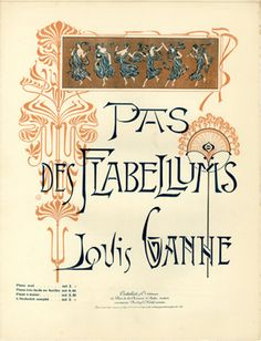 Browse art nouveau sheet music covers in the category 'Page-Decoration' - page 8 Vintage Typography, Typography Design, Art Nouveau Illustration, Page Decoration, Font Art, Music Covers, Lettering, Graphic Art, Graphic Design