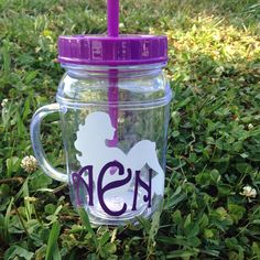 A personal favorite from my Etsy shop https://www.etsy.com/listing/234454823/monogrammed-mermaid-mason-jar-tumbler