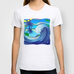 #Sea #Ocean big #Wave #T_shirt $22.00  http://society6.com/BluedarkatLem/Sea-Ocean-big-Wave_T-shirt#11=50&4=99