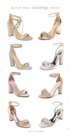 Wedding shoes with a block heel are a big trend for 2020 weddings Wedding Shoes Block Heel, Wedge Wedding Shoes, Wedding Shoes Bride, Bride Shoes, Prom Shoes, Block Heels, Best Wedding Shoes, Shoes For Brides, Sparkly Wedding Shoes