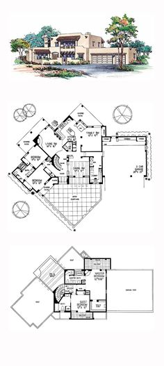 1000 Images About Santa Fe House Plans On Pinterest