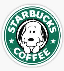 'Snoopy Cafe' Sticker by IchigoSweet Snoopy Love, Snoopy And Woodstock, Snoopy Wallpaper, Snoopy Pictures, Starbucks Logo, Snoopy Quotes, Cute Disney Wallpaper, Peanuts Snoopy, Aesthetic Stickers