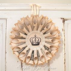 Vintage Book Wreath idea