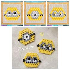 Minions perler beads by  ganmo2004