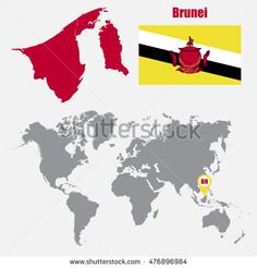 Find Brunei Map On World Map Flag stock images in HD and millions of other royalty-free stock photos, illustrations and vectors in the Shutterstock collection. Thousands of new, high-quality pictures added every day. World Thinking Day, Map Art, Brunei, Girl Scouts, Royalty Free Stock Photos, Asia, Flag, Illustration, Pictures
