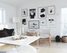 5 Inspiring picture wall ideas (Hege in France) Images Murales, Interior S, Interior Design, Ottoman In Living Room, Living Area, Art Projects For Adults, Nordic Art, Art Drawings For Kids, Inspiration Wall