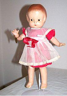 "Effanbee - Patsy Jr - All Composition Doll 11 1/2"" - w/ Original Bracelet"