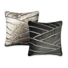 Asymmetric Jewel Square Toss Pillow - BedBathandBeyond.com