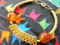 """Wire coil bracelet"""