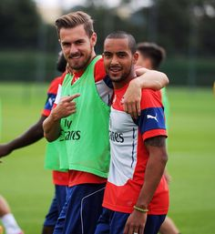 Aaron Ramsey and Theo Walcott