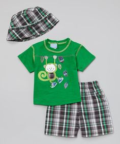 Look what I found on Green & Gray Plaid Monkey Tee Set - Infant by Duck Duck Goose Cool Kids Clothes, Cute Baby Clothes, Little Boy Swag, Tee Set, Green And Grey, Gray, Baby Boy Outfits, Cute Babies, Duck Duck