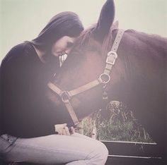 We love this shot by @ronnie4023 capturing such a lovely moment between horse and rider. #love #horses