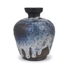 Gutte Eriksen; Glazed Stoneware Vase, c1995.