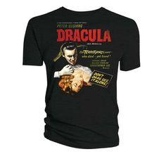 Hammer Horror Official Licensed Quality T-Shirt HH DRACULA MOVIE POSTER T/S XL In stock Old price £14.99 £11.99