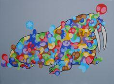 Northpole - acrilics on canvas 80x60 - 2013  #art #pop #walrus