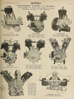 1920 poster showing single cylinder & V-twin JAP engines