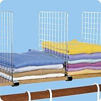 chrome shelf dividers 4 for 17 or 30 for 8