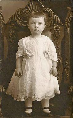 Darling little girl wearing pretty dress