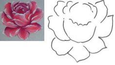 Pintura em Tecido Estudo das Rosas passo a passo - Pintura em Tecido Passo a Passo Com Fotos