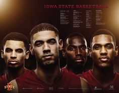 2014-15 Iowa State Men's Basketball Schedule Poster with over 3,000 season ticket holder's names in the background