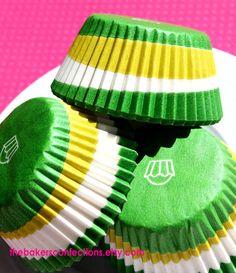 Green Swirl Cupcake Liners Baking Cups (90).