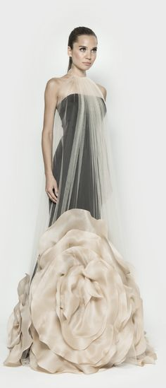 Evening dress with oversized organza flowers from our Spring/Summer 2014…