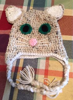 Precious Cat Crochet Animal Hat by HappyCritterHats on Etsy