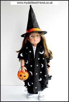 No sew witch/ wizard costume for dolls