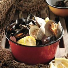 Stovetop clambake   Coastal clambake menu