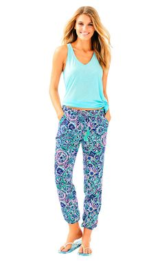 9811939870e  lillypulitzer  cloth   Printed Pants