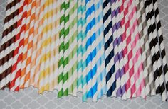 200 barber striped paper drinking straws you by isakayboutique