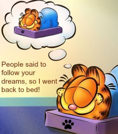 People said to follow your dreams, so I went back to bed! :)