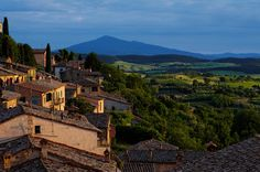 Montepulciano at Sunset by Simone Ciliberti - One Of The Most Romantic Place Italy For Honeymoon Travel The Beautiful Country, Beautiful World, Beautiful Places, Great Places, Places To See, Italy Landscape, Most Romantic Places, Places In Italy, Regions Of Italy
