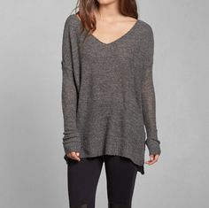 Abercrombie & Fitch APRIL SWEATER - gray