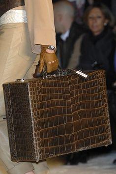 Brown/ Hermès suitcase