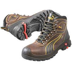 PUMA Safety Men's Sierra Nevada Mid WP EH Brown Sneaker 1...
