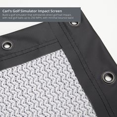 Carl's Golf Simulator Impact Screen, Hitting Net, Hitting Screen - Build a DIY golfing simulator screen that withstands direct golf ball impact, with real golf balls-up to 250 MPH, with minimal bounce back!