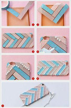 5 handyhulle selbst gestalten handyhulle gestalten mit klebeband und perlen