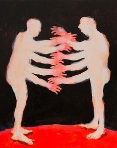 red-lipstick: Nicola Bealing (b. Hertford, UK) - Lovers Paintings: Oil on Linen Arte Peculiar, Arte Obscura, Photocollage, Weird Art, Grafik Design, Psychedelic Art, Surreal Art, Pretty Art, Aesthetic Art