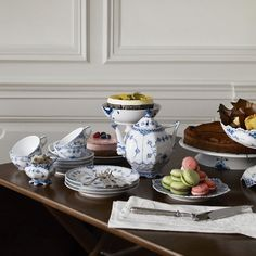 Blue Fluted Full Lace Cake Table in the 2012 Royal Copenhagen Catalogue