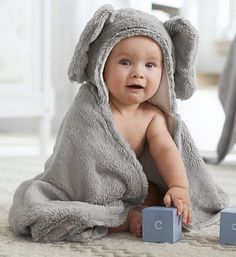 Cutest elephant towel ever! http://rstyle.me/n/pwuu5nyg6