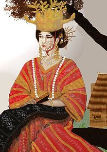 An illustration of a distinctive clothing of a Tagalog woman which is belonged to a Maharlika caste.//Women in the Philippines Filipino Art, Filipino Culture, Manila, Cultura Filipina, Philippine Mythology, Vietnam, President Of The Philippines, Filipino Fashion, East Asian Countries