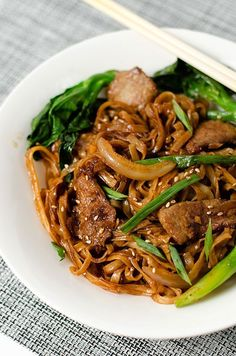 Beef Chow Fun with Chinese Broccoli | Omnivore's Cookbook