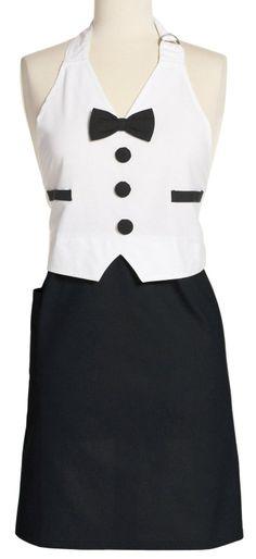 Amazon.com - DII Men's Tuxedo Apron Full, Black and White - Kitchen Aprons #AmazonCart #DII #DesignImports