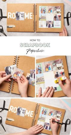 In need of scrapbooking ideas? Well, this one is perfect, especially if you go travelling a lot and want to record all of your activities while away. We love this scrapbooking layout, perfect for beginners too! The best bit is customising your scrapbook with washi tape or embellishments! #scrapbookideas #scrapbooking101