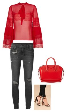 """🔴❤️"" by strotsenburg on Polyvore featuring mode, Givenchy, Kendall + Kylie, Giambattista Valli en Ksubi"